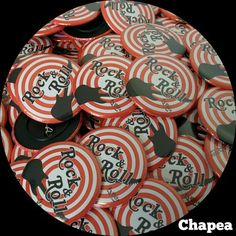 Chapas personalizadas para grupos de música. #ChapasPersonalizadas