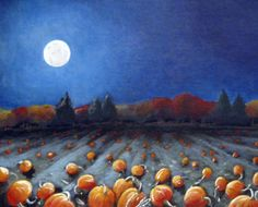Cold night air, bright moon and frosted pumkins.  I can smell it in the air...