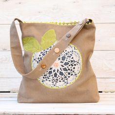 Doily Flower Bag | Sew Mama Sew |