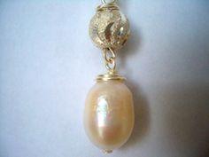 Fresh Water Pearl Fine Silver Necklace Handmade by JensStudio88, $20.00