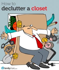 Tips for decluttering a closet
