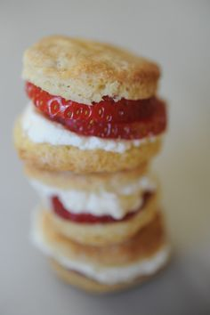 Strawberry biscuit bites