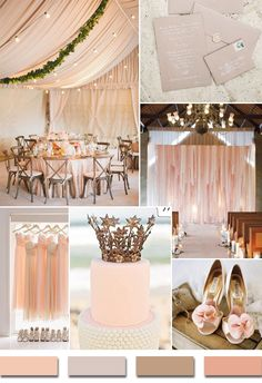 2014 trending blush wedding color ideas for summer season www.finditforweddings.com Inspiration board