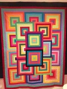 """Over the Rainbow"" quilt top (photo by yohardys, via Flickr)"