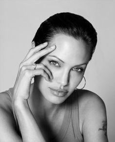 face, firooz zahedi, colors, angelina jolie, star, beauti peopl, actress, celebrity portraits, black