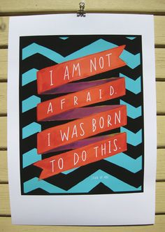 Born to do this print
