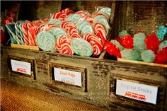 Vintage Train Station Party via www.karaspartyideas.com. LOVE the treats!