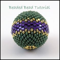 Tutorial Round Beaded Bead Peyote Stitch by TheBeadedBead