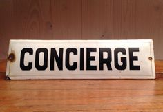 Vintage ...Charming and authentic French enamel sign by officina58, €38.00