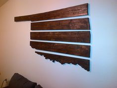 5 Piece Wooden Oklahoma Wall Hanging by SnellingtonCreations