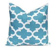 Decorative Pillow Throw Pillow Cover Cushion Cover Toss Pillow One All Sizes Blue White Tiles