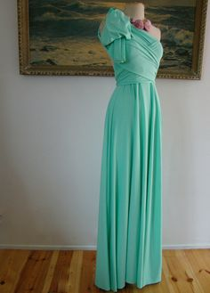 Gidget Mint Octopus Convertible Wrap Gown. $98.99, via Etsy. - bridesmaids dress? love how it is totally convertible ....hmm