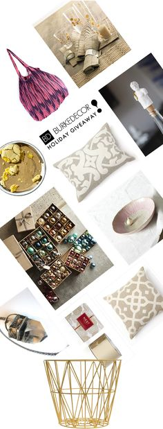 One more day to enter the Burke Decor Holiday Giveaway!