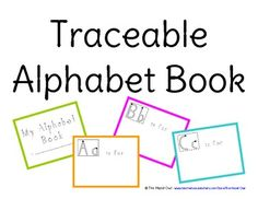 FREE Traceable Alphabet Book. We use this along with each letter unit and use stamps, magazine cut-outs, stickers, drawings, etc. At the end of the year we will have a completed alphabet book. TPT