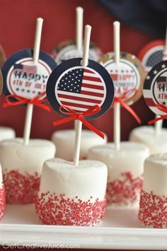 4th of July Printables and Easy Dessert Idea