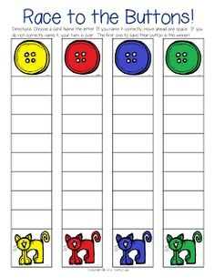 "Pete the Cat Buttons Game - take turns during group to move up the ladder to buttons. Or earn ""buttons""  (like token tower) for brain in group/participation/ thinking about others/etc."