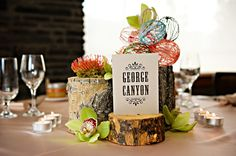 A rustic and very interesting centerpiece