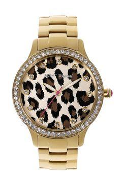 Betsey Johnson Leopard Print Dial Watch