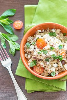 Quinoa Salad with Feta and Chia Seeds  http://www.fifteenspatulas.com/quinoa-salad-with-feta-and-chia-seeds/