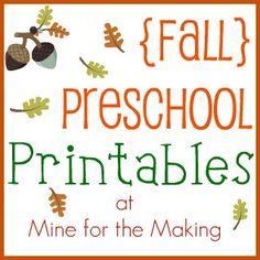 Mine for the Making: {Fall} Preschool Printables
