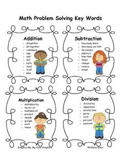 Math Problem Solving Key Words