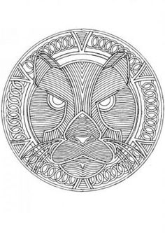 free animal coloring pages for adults | Circular Mandala Kids Coloring Pages with Free Colouring Pictures to ...