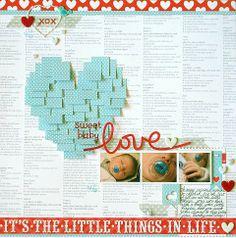 Sweet Baby Love by Melinda Spinks #scrapbooking - Two Peas in a Bucket