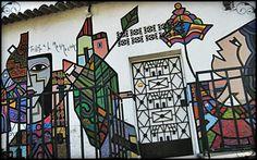 Mural in La Palma, El Salvador #art photo by http://travellersoul76.com