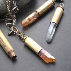 This video tutorial shows you how to make your own cool pendants using spent bullet shells and crystal point beads!
