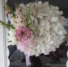 Shabby Chic Rag Wreath Cottage Chic Rag Wreath Burlap by IndigoGem, $89.00