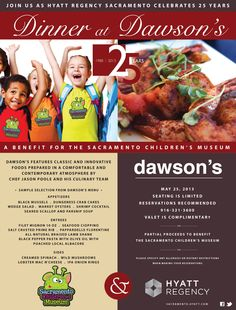 A Benefit for the Sacramento Children's Museum Dinner @ Dawson's.