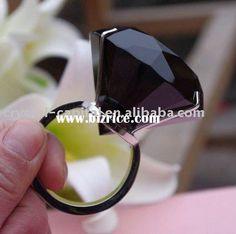 Big black fake diamond ring :3 want...