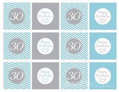 FREE 30th Birthday Printables