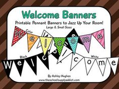 Free welcome banner for your classroom