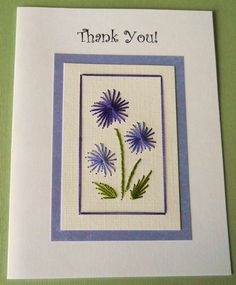 stitched card