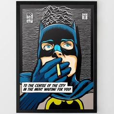 Post-Punk Bat Print by Butcher Billy