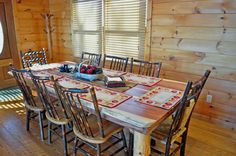 Rustic handmade log table