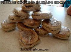 Freezer Cooking ~ Sausage Biscuits  http://www.stockpilingmoms.com/2012/09/freezer-cooking-sausage-biscuits/