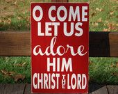 Isaiah 9:6 For Unto Us a Child is Born Christmas Sign Typography Scripture Subway Art  Wooden Sign Christian.