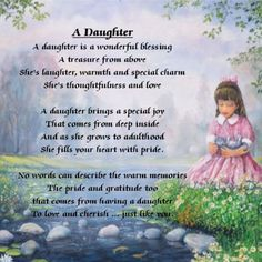 Personalised Coaster - Daughter Poem - Little Girl Design + FREE GIFT BOX