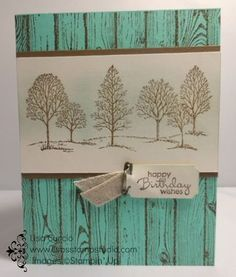 A great image for any occasion Stampin' Up!, Lovely as a Tree, Hardwood, Ticket Duo Punch, Vintage Trinkers
