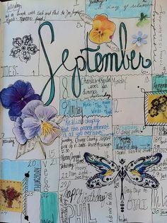 Art journal inspiration: Calendar Journal by born 2 b creative, via Flickr