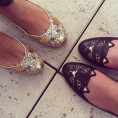 Charlotte Olympia Cat and Mouse flats