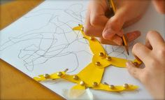 great lesson for showing movement in art using a jointed paper figure- can link to Futurism movement