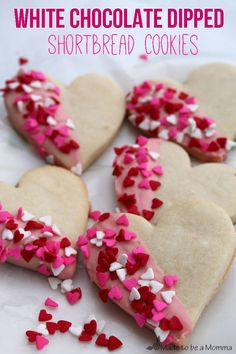 Heart Shortbread Cookies-Made to be a Momma heart shortbread, valentin craft, food, bee craft, shortbread cookiesmad, valentin sweet, valentin dessert, holiday cooki, baby showers