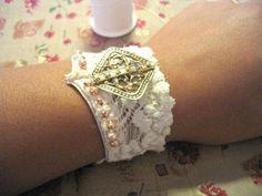 Vintage bra bracelet