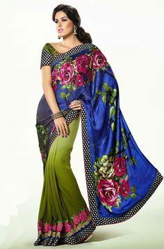 Fabulous Floral Print Saree