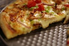 Garlic Chicken Pizza Recipe  I am trying this recipe tomorrow for my family.