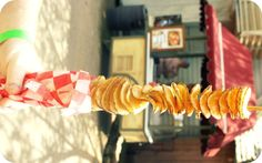 Chips on a stick at Silver Dollar City #potatoes #junk #food #snacks #summer #missouri