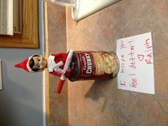 Elf on the Shelf idea when the kids are sick